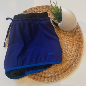 Nike 2-in-1 Dri-Fit Running Shorts Blue M